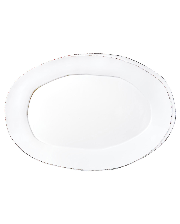 Vietri Servewares LASTRA OVAL PLATTER, WHITE