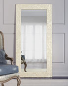 Interlude Home Mother-of-Pearl Floor Mirror | Neiman Marcus