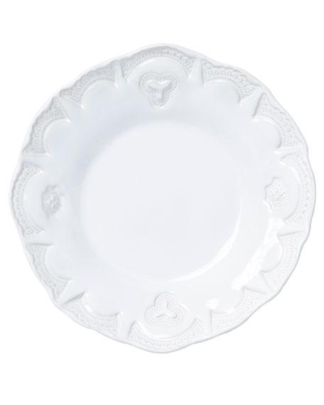 Vietri Incanto Stone Lace Pasta Bowl, White