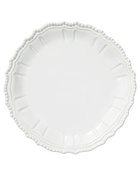 Vietri Incanto Stone Baroque Round Platter, White