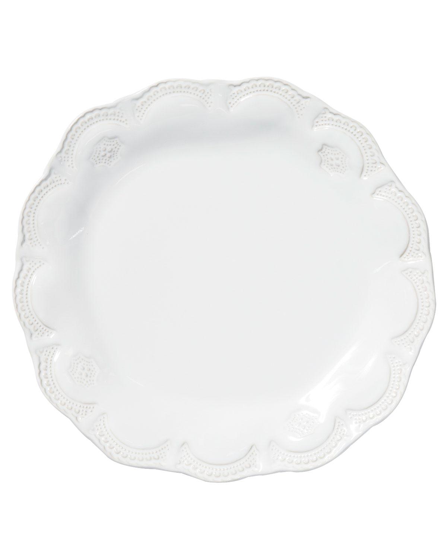 Vietri Dinnerwares INCANTO STONE LACE DINNER PLATE, WHITE