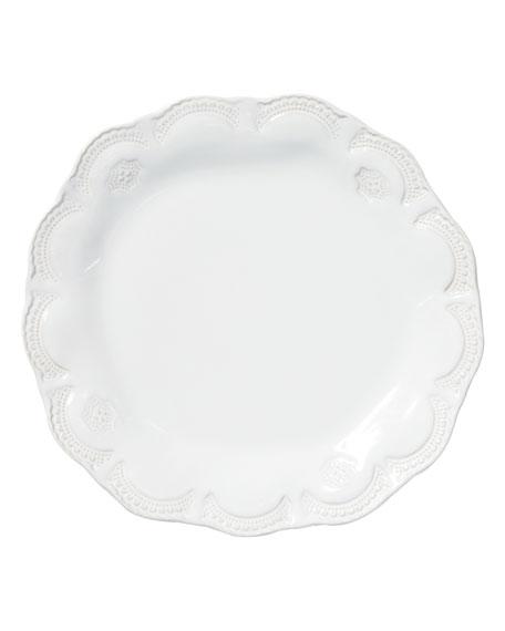 Vietri Incanto Stone Lace Salad Plate, White