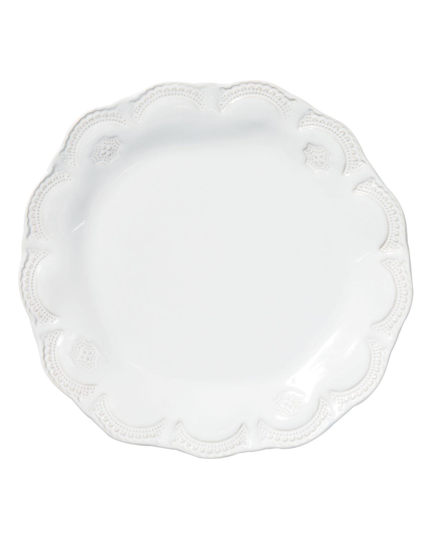 Vietri Dinnerwares INCANTO STONE LACE SALAD PLATE, WHITE