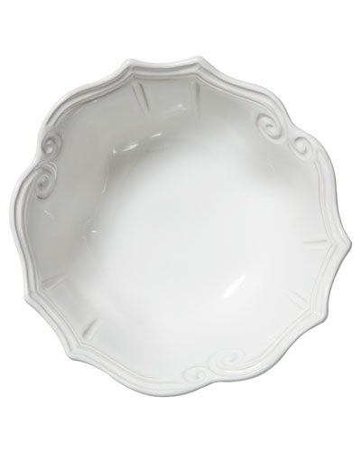 Incanto Stone Baroque Medium Serving Bowl, White