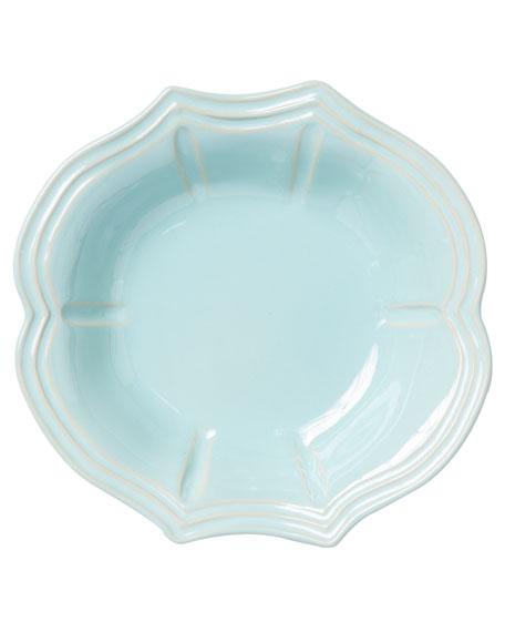 Vietri Incanto Stone Baroque Pasta Bowl, Aqua