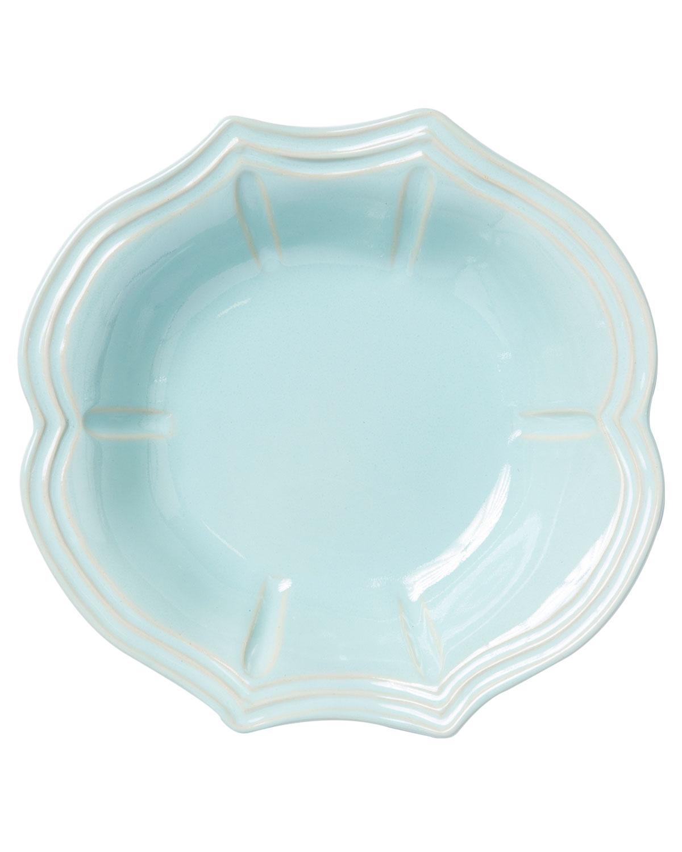 Vietri Dinnerwares INCANTO STONE BAROQUE PASTA BOWL, AQUA