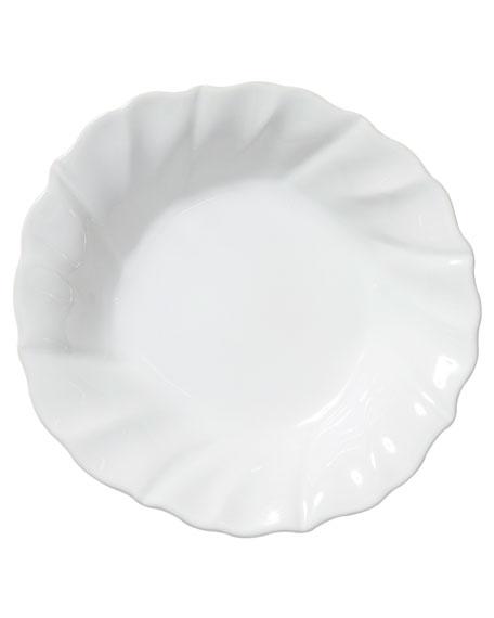 Vietri Incanto Stone Ruffle Pasta Bowl, White