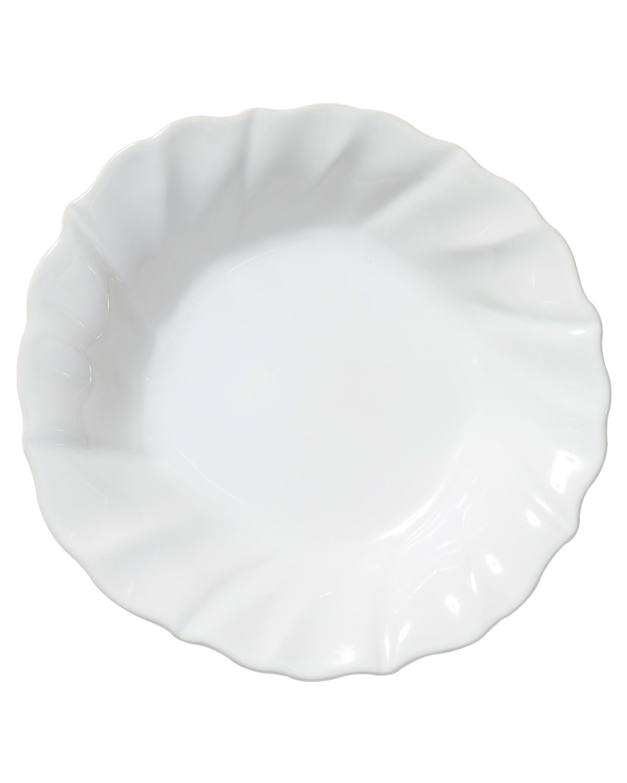 Vietri Dinnerwares INCANTO STONE RUFFLE PASTA BOWL, WHITE