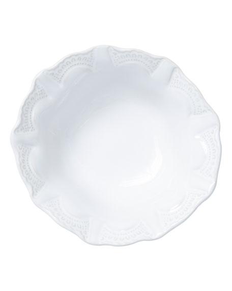 Vietri Incanto Stone Lace Cereal Bowl, White
