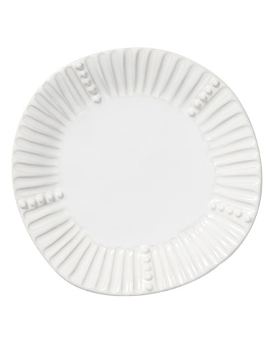Incanto Stone Stripe Salad Plate, White