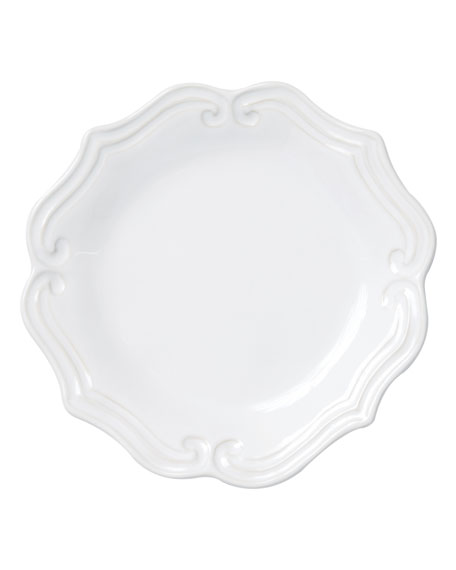 Vietri Incanto Stone Baroque Salad Plate, White