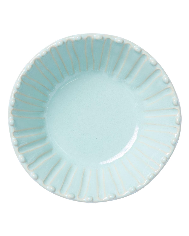 Vietri Dinnerwares INCANTO STONE STRIPE CEREAL BOWL, AQUA
