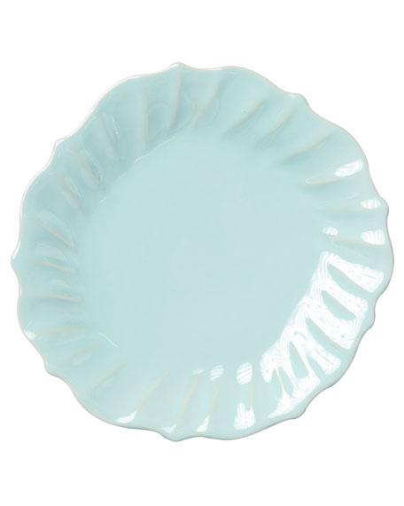 Vietri Incanto Stone Ruffle Dinner Plate, Aqua