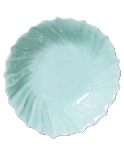 Incanto Stone Ruffle Large Bowl, Aqua