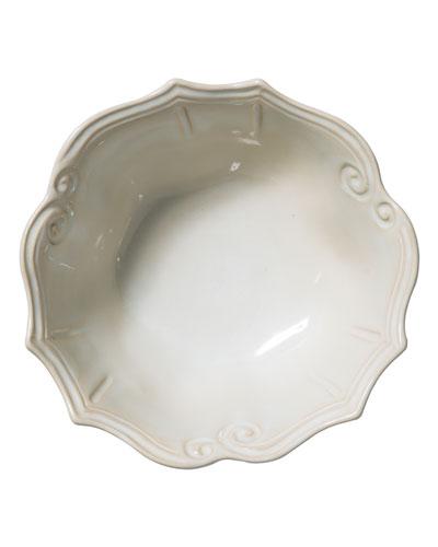 Incanto Stone Baroque Medium Serving Bowl, Linen