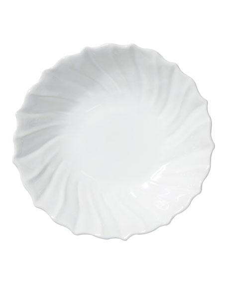 Vietri Incanto Stone Ruffle Large Bowl, White
