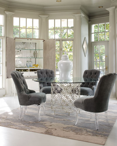 Harlow Glass-Top Dining Table