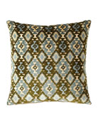 Eastern Accents Hand-Painted Breeze Shell Lumbar Pillow and