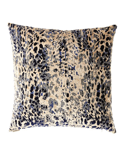 Sarabi Blue Cut Velvet Pillow