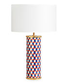 Carnaby Lamp, Navy/Red
