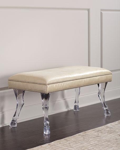 Massoud Centaur Leather Bench