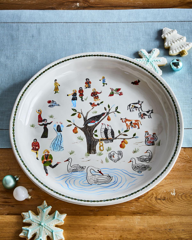 Twelve Days of Christmas Platter, 15