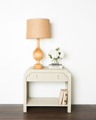 Chilmark Faux-Shagreen Side Table
