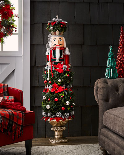 quick look classic christmas nutcracker topiary decor - Neiman Marcus Christmas Decor