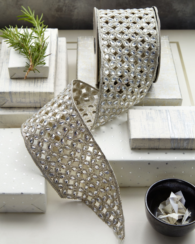 Filigree Jeweled Holiday Ribbon
