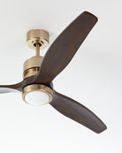 Ellington/Litex Sonet Satin Brass Ceiling Fan with Walnut