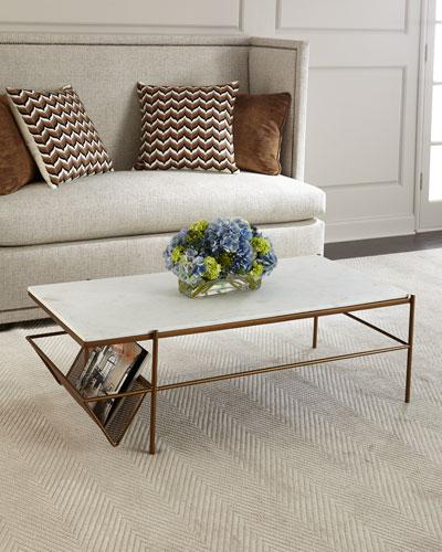 dae6f5c4162fd Galinda Marble-Top Coffee Table
