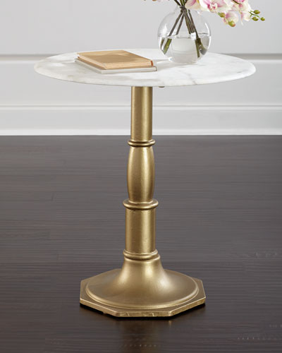 Chesney Marble-Top Side Table