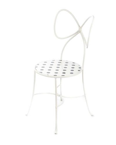 Bow-Back Dot Chair, White