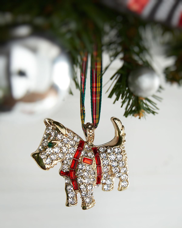 Scottie Dog Hanging Christmas Ornament