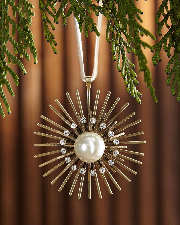 Pearl Sputnik Hanging Christmas Ornament
