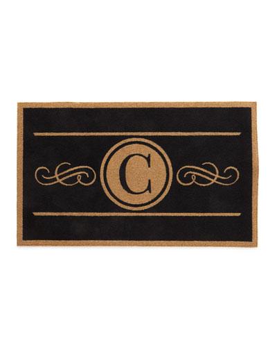 Custom Scroll Monogram Rug, 3' x 5'