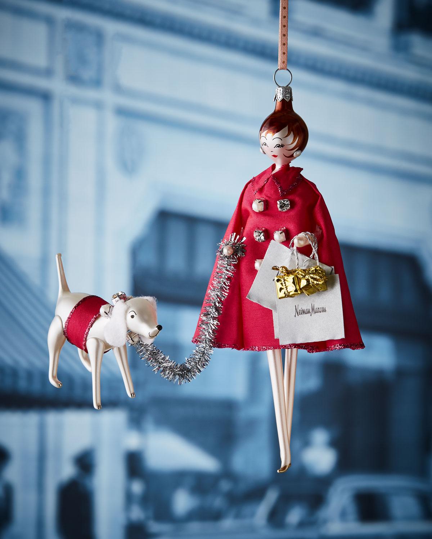 NM Lady Shopper Christmas Ornament
