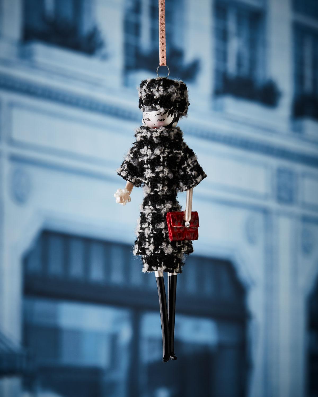 Madeleine in Plaid Dress Christmas Ornament