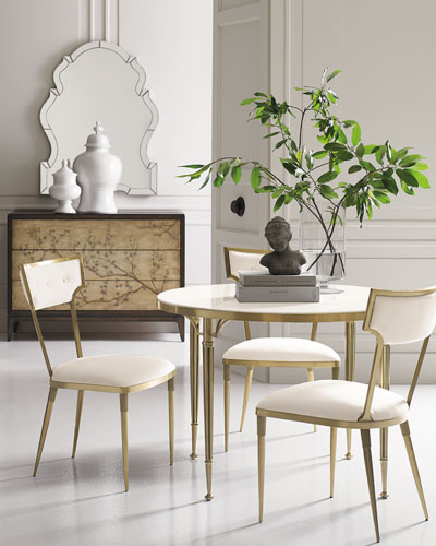 Comes Around! Stone-Top Dining Table