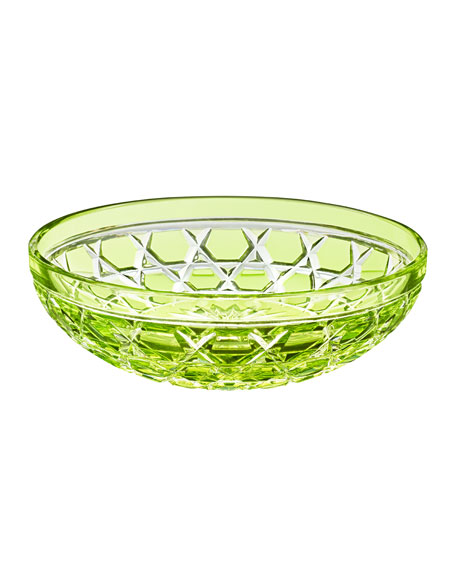 Saint Louis Crystal Royal Small Bowl, Chartreuse