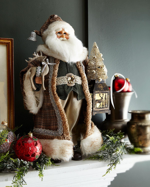 Lighted Natural Elegance Santa