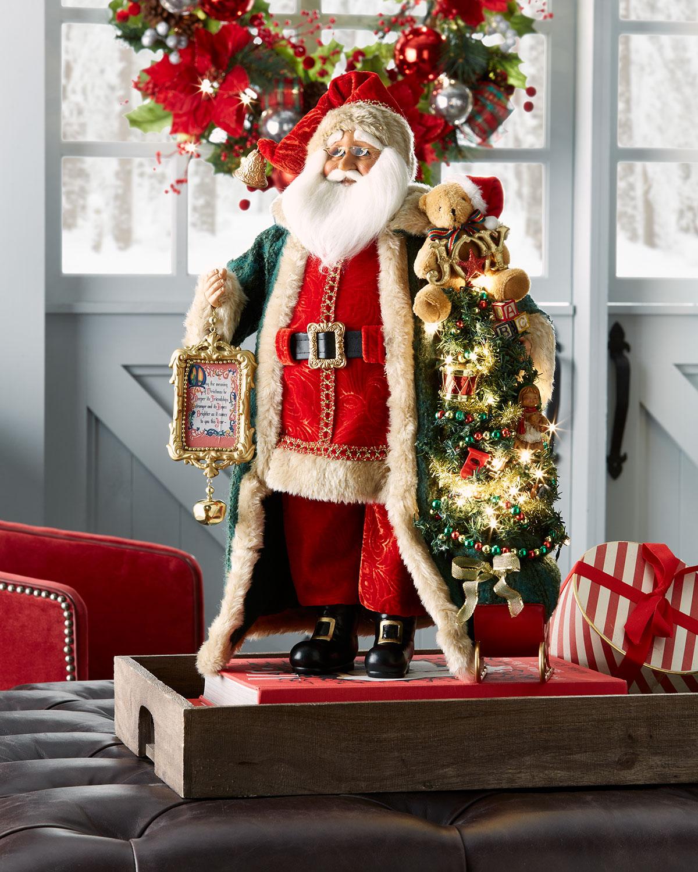 Lighted Christmas Morning Santa