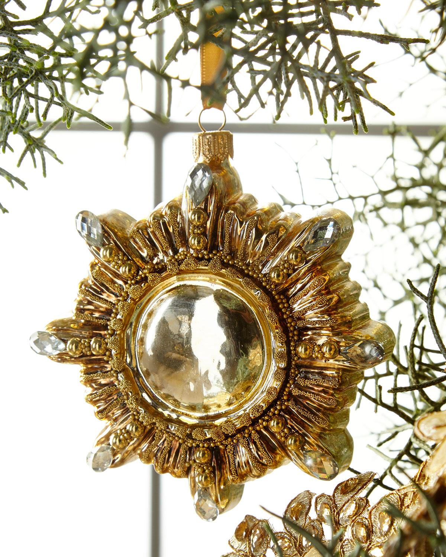 Golden Star Christmas Ornament
