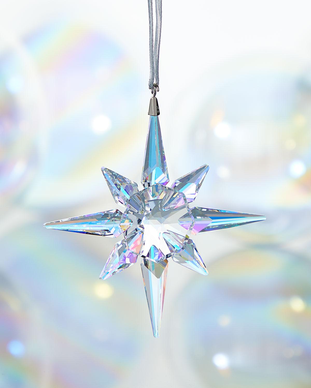 Clear Crystal Star Christmas Ornament