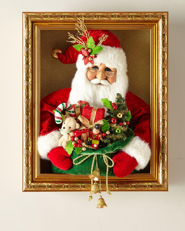 Santa with Gifts Wall Decor