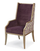 One-of-a-Kind Arm Chair, Purple