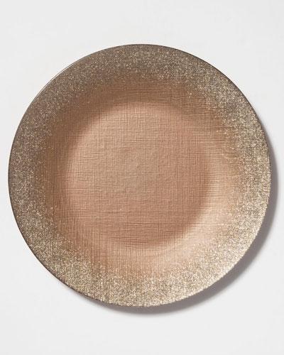 Glitter Glass Service Plate, Ginger