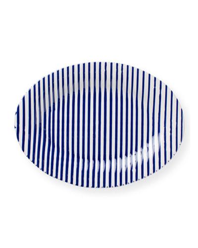 Stripe Medium Oval Platter