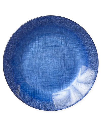 Glitter Glass Service Plate, Cobalt
