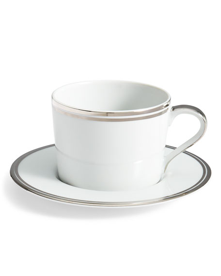 Ralph Lauren Home Wilshire Tea Cup and Saucer, Platinum